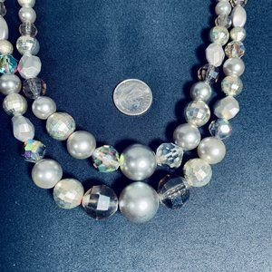 Vintage Bead and Crystal Necklace